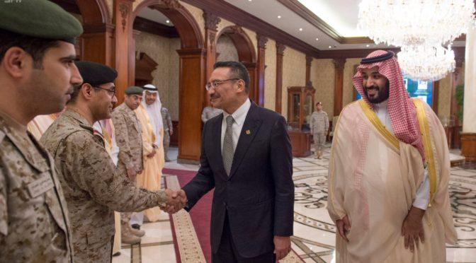 Его Высочество заместитель наследного принца и министр обороны Малайзии обсудили сотрудничество в оборонной сфере и развитие обстановки