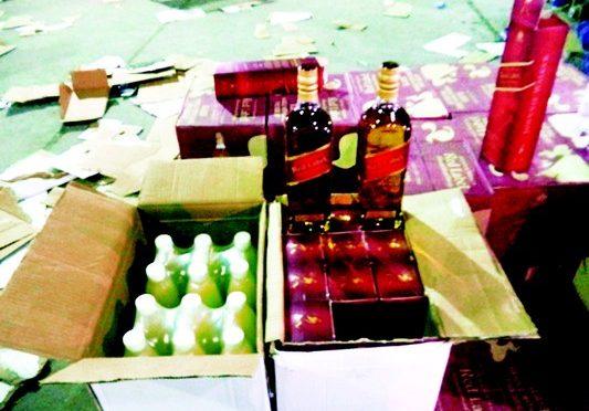 В  грузе лимоного сока было спрятано 15 тыс. бутылок спиртного