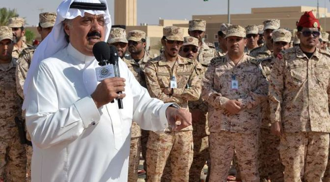 Его Королевское Высочество принц Мутааб бин Абдаллах встретил подразделения Национальной Гвардии, возвращающиеся из провинции Наджран