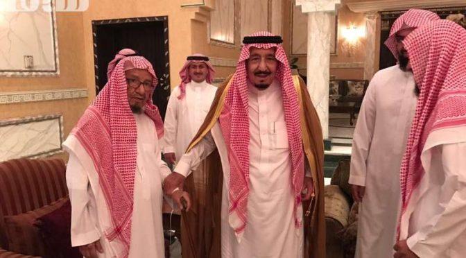 Служитель Двух Святынь посетил шейха Насира Шасри в его доме