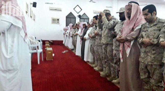 Похоронная молитва по павшему мученником ефрейтору Кахтани в вади Давасир