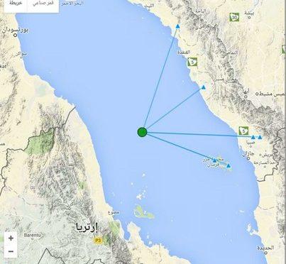 Землятресение магнитудой в 3.1 балла произошло посредине Краcного моря