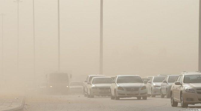 Фронт пылевой бури обрушился на Эр-Рияд