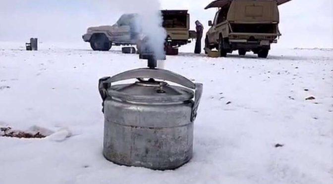 «Саудия в  снегах» .. удивительные фотографии широко распространились в социальных сетях