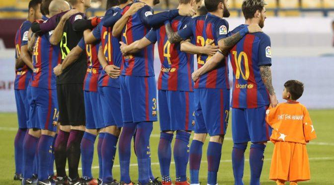 Противоборство команды клуба «Ахли» и «Барселоны»