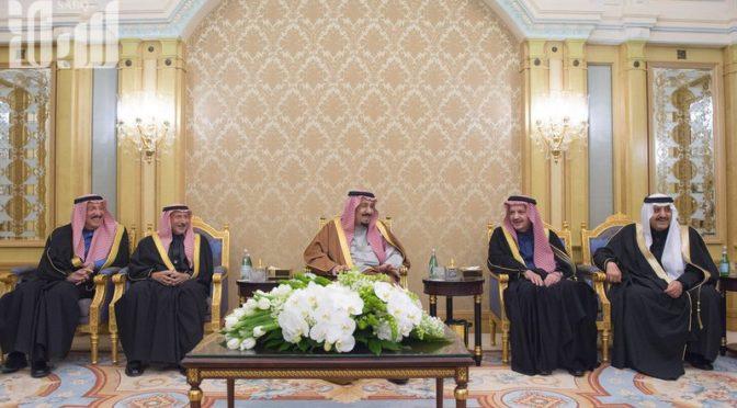 Король Салман почтил своим визитом церемонию бракосочетания  сыновей своего брата принца Ахмада