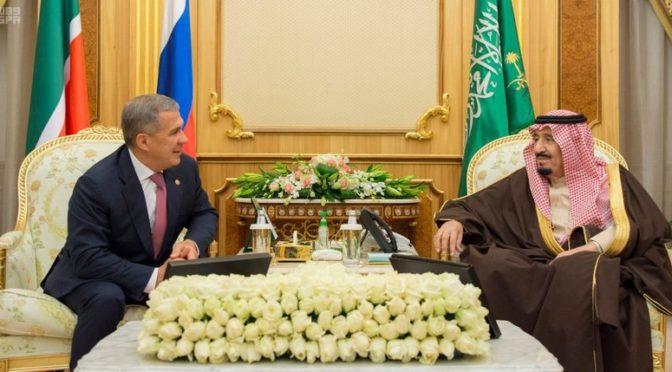 Служитель Двух Святынь принял президента республики Татарстан