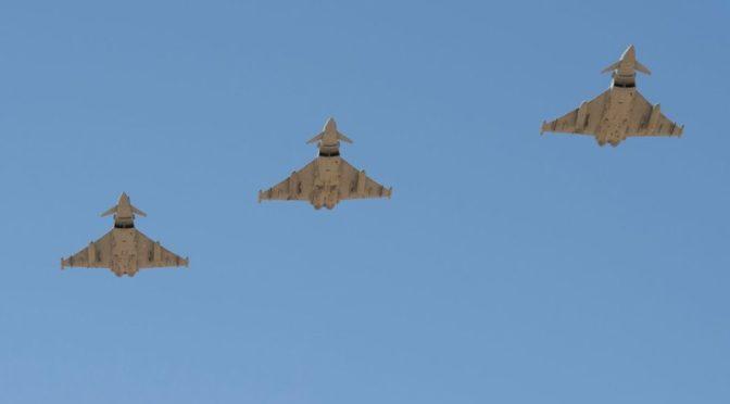 Портал «Сабк» запечатлел прибытие Саудийских ВВС, участвующих в совместных учениях «Голубой щит 1»