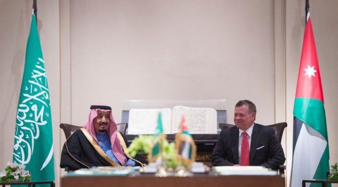 Служитель Двух Святынь и Король Иордании подписали соглашения и меморандумы о взаимопонимании