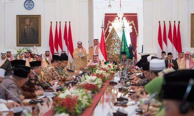 Служитель Двух Святынь и президент республики Индонезия встретились с видными исламскими деятелями Индонезии