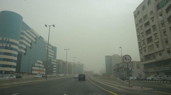 Пыльная буря накрыла Джидду