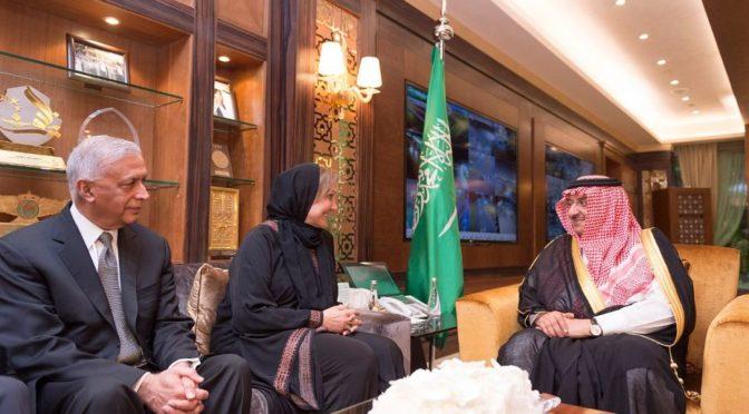 Его Высочество наследный принц принял делегацию должностных лиц образовательного «Азиатского общества»