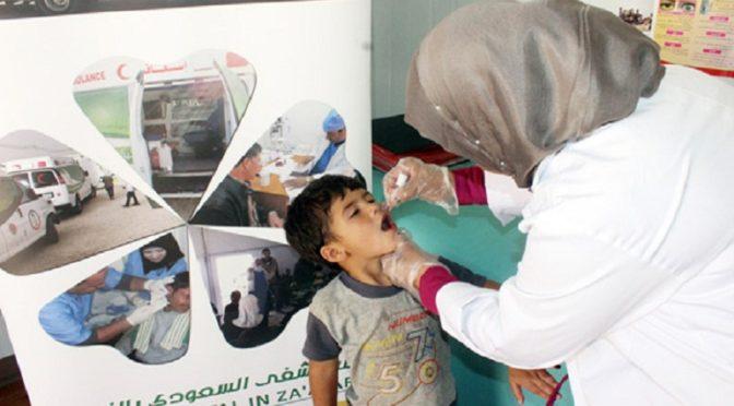 Саудийские специалисты доставляют вакцины для 92 детей в лагере сирийских беженцев Заатари  на протяжении 224 недель
