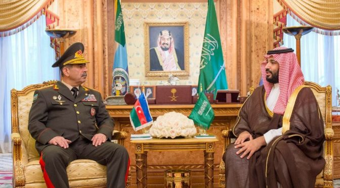 Заместитель наследного принца  провёл переговоры  с Министром обороны Азербайджана