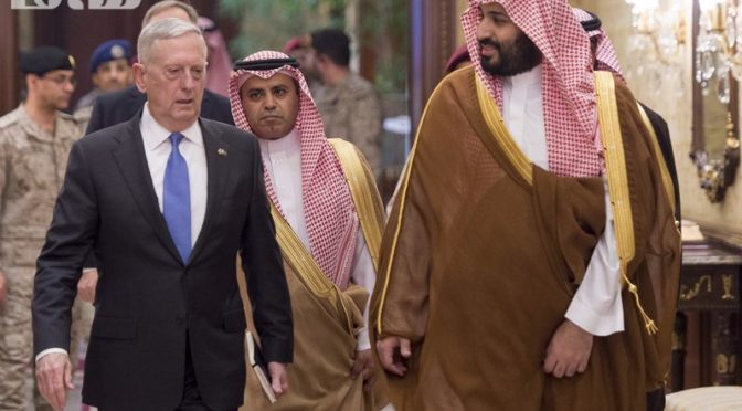 Дж.Мэттис обращается из Эр-Рияда к муллам: «мы не хотим новой Хизболы» и анонсируем визит Д.Трампа в Саудию