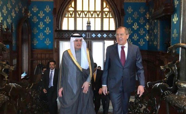 Министр иностранных дел Королевства аль-Джубейр и министр иностранных дел России обсудили региональные и глобалльные проблемы