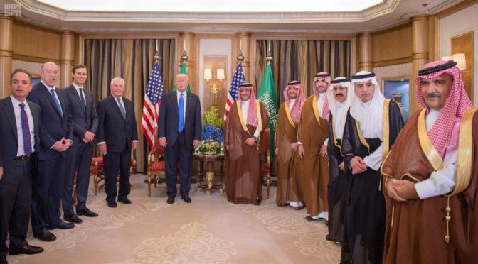 Его Высочество наследный принц обсудил с президентом США двусторонние отношения двух дружественных стран и сотрудничество в борьбе с терроризмом