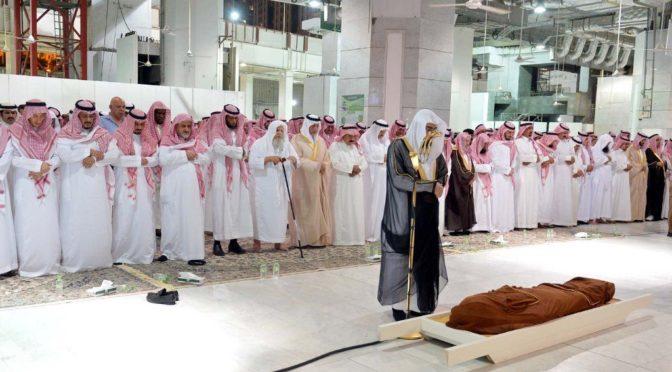 Служитель Двух Святынь совершил похоронную молитву по принцу Мушалу бин Абдулазизу  ал-Сауд, да помилует его Аллах