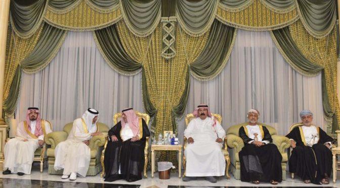Сыновья принца Мушала бин Абдулазиза принимают соболезнующих
