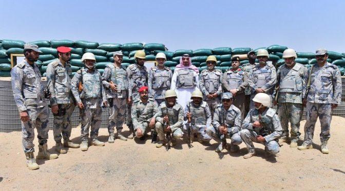 Губернатор провинции Наджран посетил передовые позиции Пограничных войск