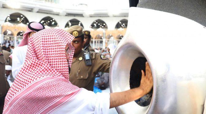Председатель комитета по делам Двух Святынь инспектировал  подразделения по обслуживанию Запретной Мечети