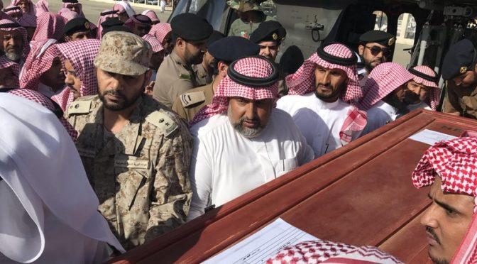 Вертолёт ВВС доставил тело павшего мученником сержанта Маннаъ в аль-Башаир