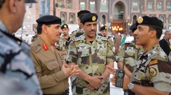 Силы безопасности несут службу на всех площадях и в проходах Запретной Мечети