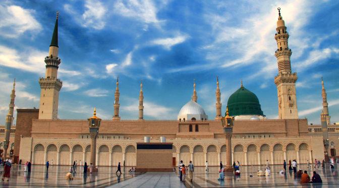732 года  высится над Благородной мечетью Пророка минарет Мервания