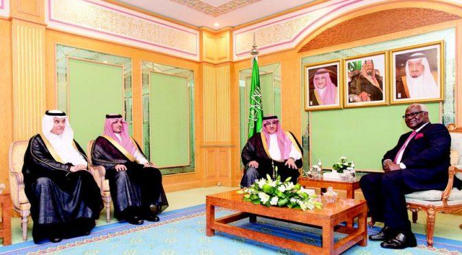 Его Высочество наследный принц встретился с президентом республики Сьерра-Леоне