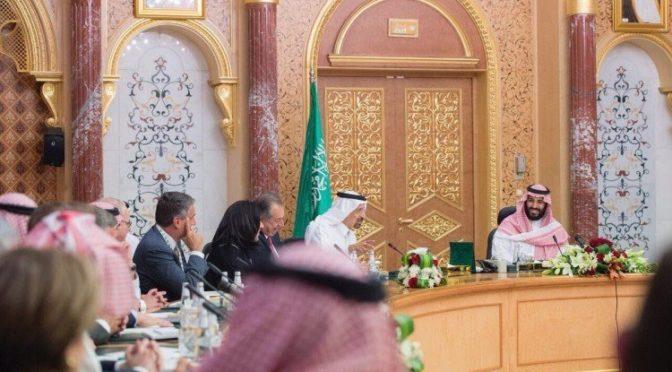 Заместитель наследного принца встретился с президентами крупных американских и саудийских компаний