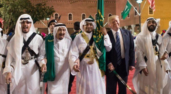 Король Салман и Д.Трамп во дворце Мурабиа