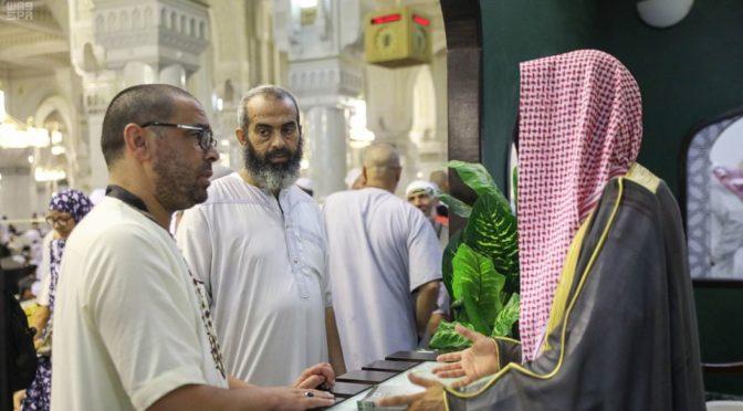 Комиссия по поощрению добродетели в лице отдела по делам Двух Святынь открыла уголки информирования в Запретной Мечети
