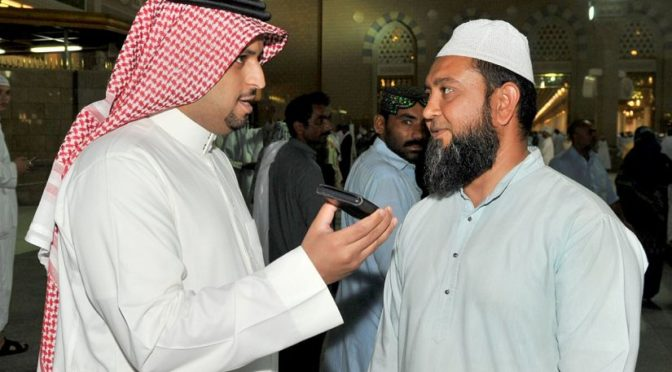 Несколько паломников благодарят Королевство за услуги, оказываемые в Мечети Пророка