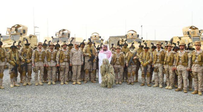 Заместитель губернатора провинции Джазан передал поздравления правителей Королевства с Благословенным месяцем Рамадан пограничникам на южных рубежах
