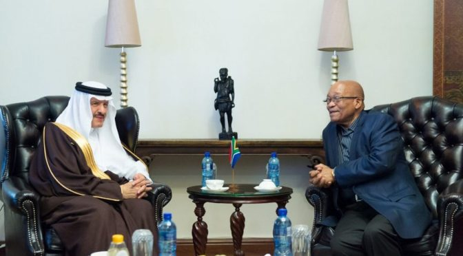 Президент ЮАР принял принца Султана бин Салмана