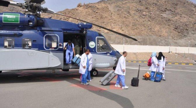 Вертолёт сил безопасности доставил специальную врачебную бригаду трансплантологов в Благородную Мекку