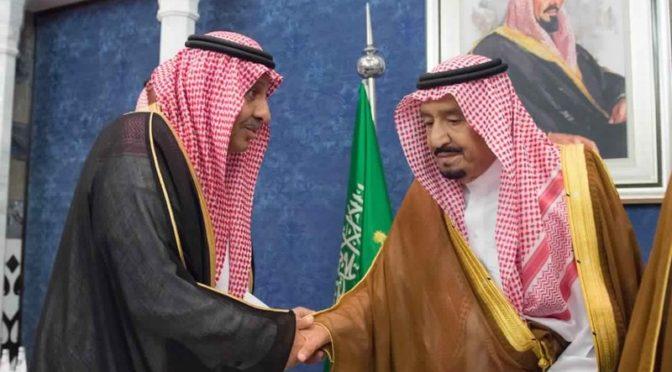 Служитель Двух Святынь принял соболезнующих ввиду кончины  принца Абдуррахмана бин Абдулазиза, да помилует его Аллах