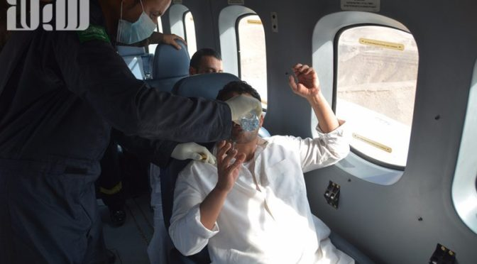 Вертолёт сил безопасности  обнаружил  пропавших  в вади Нисах в округе аль-Мазахамия