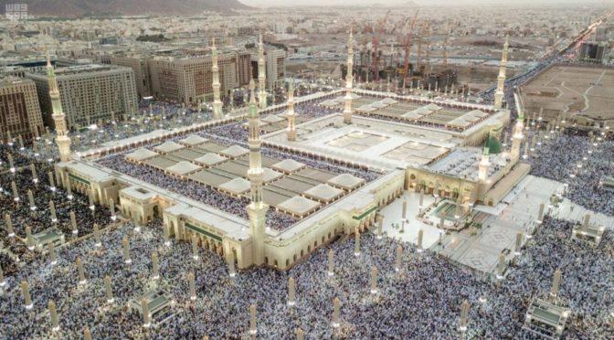 Паломница из одной из арабских стран пролила слёзы радости по прибытии в зал приёма паломников в Лучезарной Медине