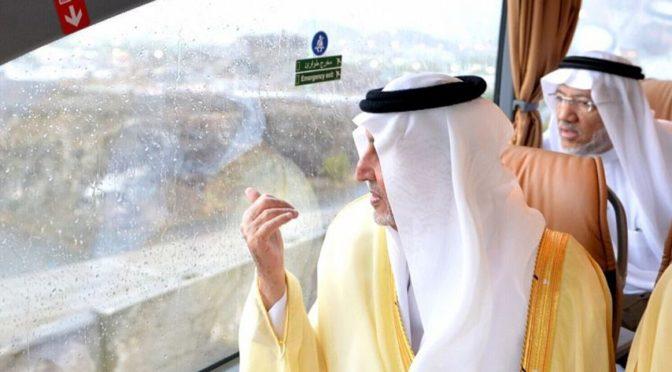 Принц Халид Фейсал инспектировал ряд проектов в местах паломничества
