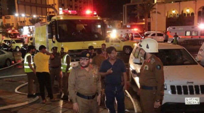 Эвакуировано 600 паломников после возникновения пожара в одной из гостинниц в районе Азизия в Мекке