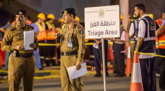 Учения по эвакуации железнодорожной станции в Муздалифа