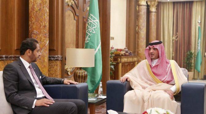 Его Высочество Министр внутренних дел обсудил с послом Джибути пути укрепления двустороннего сотрудничества