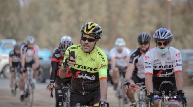 Группа велосипедистов организует велопробег в округе Музниб для популяризации велоспорта
