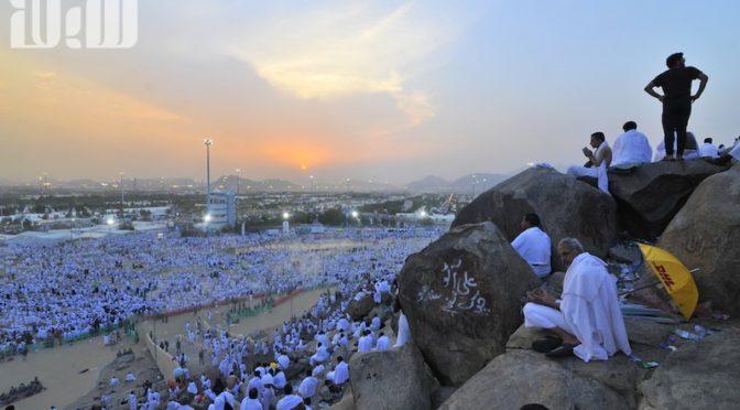 Два миллиона паломников присутствовали на закате солнца на Арафате