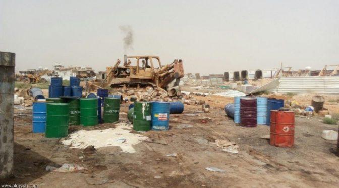 Снос незаконно возведённых построек в провинции Эр-Рияд на площади в 17 мн.кв.м