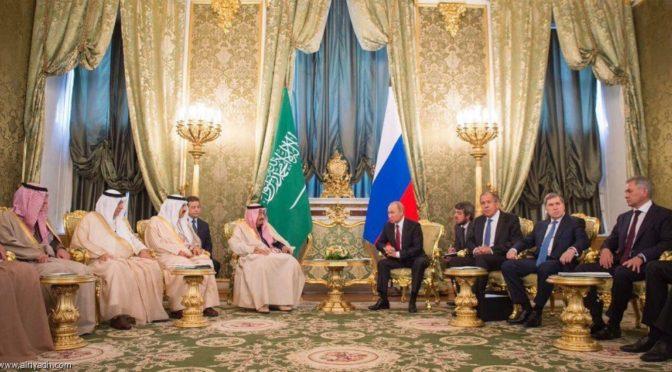 Служитель Двух Святынь и президент России провели двусторонние переговоры