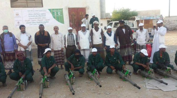 Центр гуманитарной помощи им.Короля Салмана открывает компанию по уничтожению москитов, переносящих лихорадку денге, в округе аль-Махра