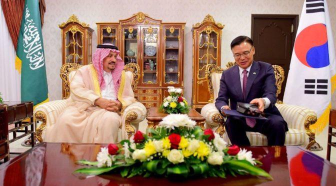 Губернатор провинции Эр-Рияд посетил посольство республики Южная Корея