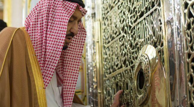 Служитель Двух Святынь прибыл в Лучезарную Медину и посетил Мечеть Пророка
